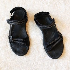 Teva Black Velcro Sandals Size 9.5